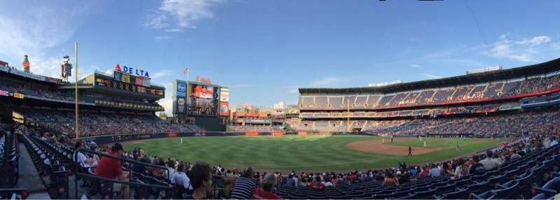 Seating view for Turner Field Section 122 Row 24 Seat 6