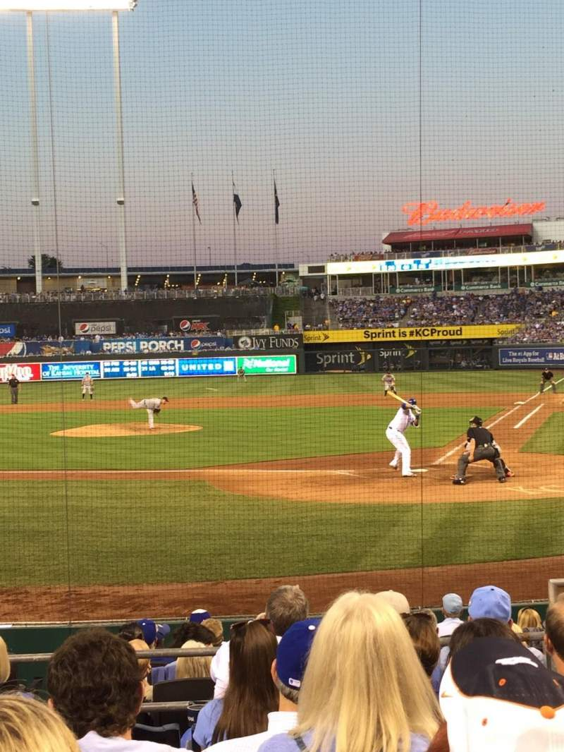 Seating view for Kauffman Stadium Section 125 Row H Seat 7