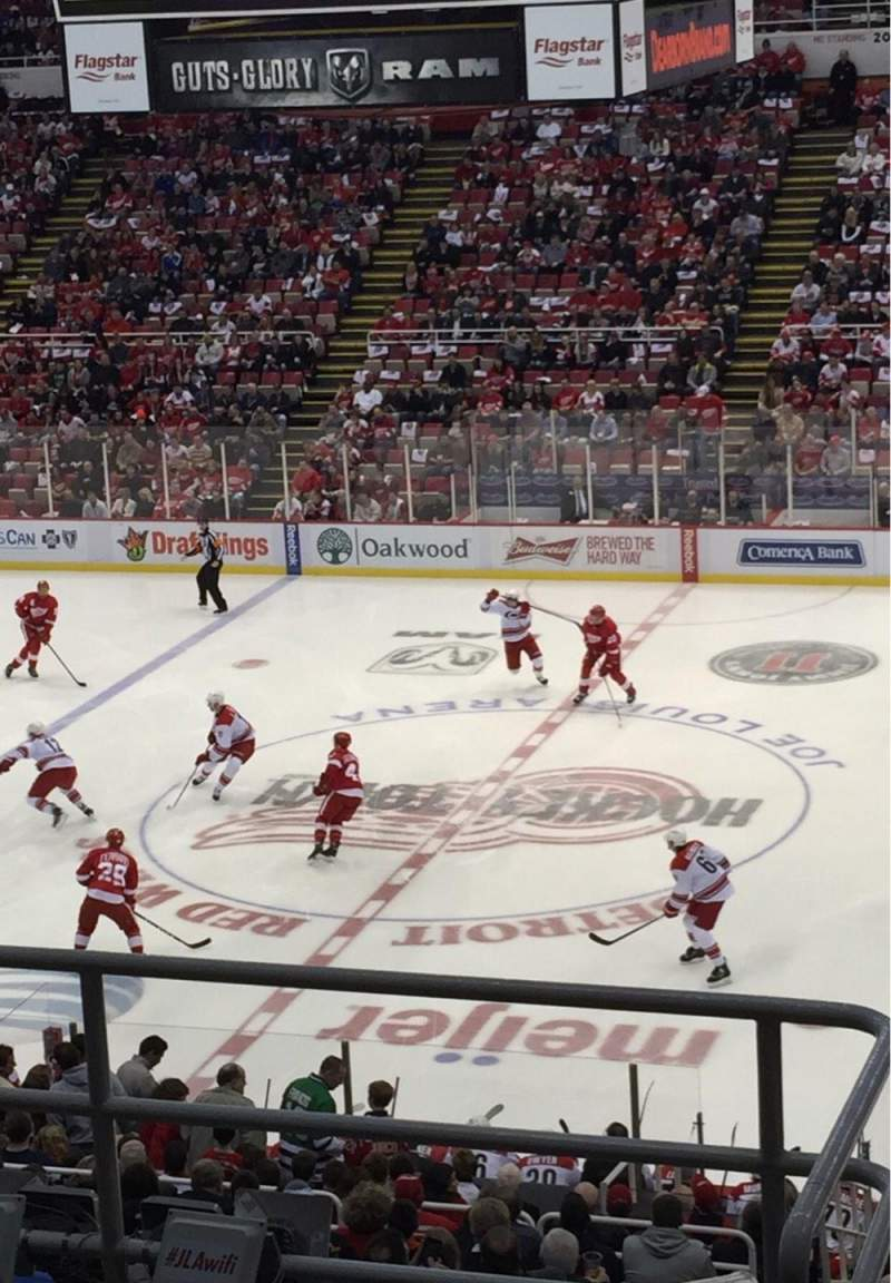 Seating view for Joe Louis Arena Section 220 Row 6 Seat 13