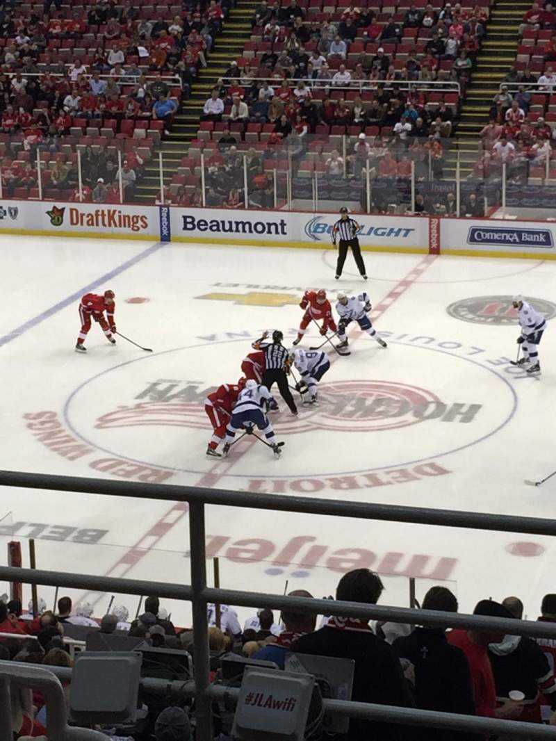 Seating view for Joe Louis Arena Section 220 Row 6 Seat 12