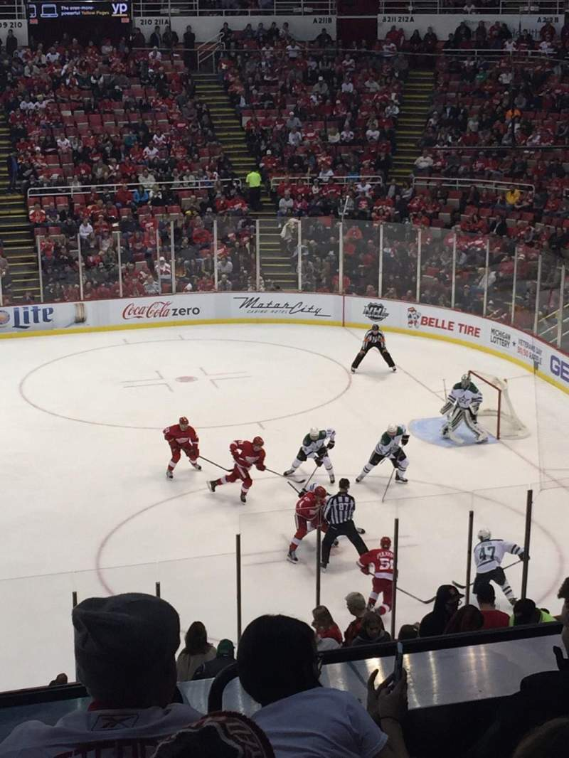 Seating view for Joe Louis Arena Section 220 Row 6 Seat 10