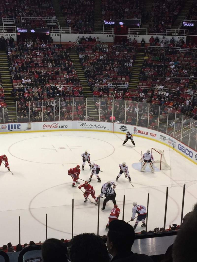 Seating view for Joe Louis Arena Section 220 Row 6 Seat 9