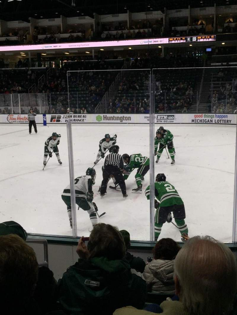 Seating view for Munn Ice Arena Section F Row 7 Seat 7