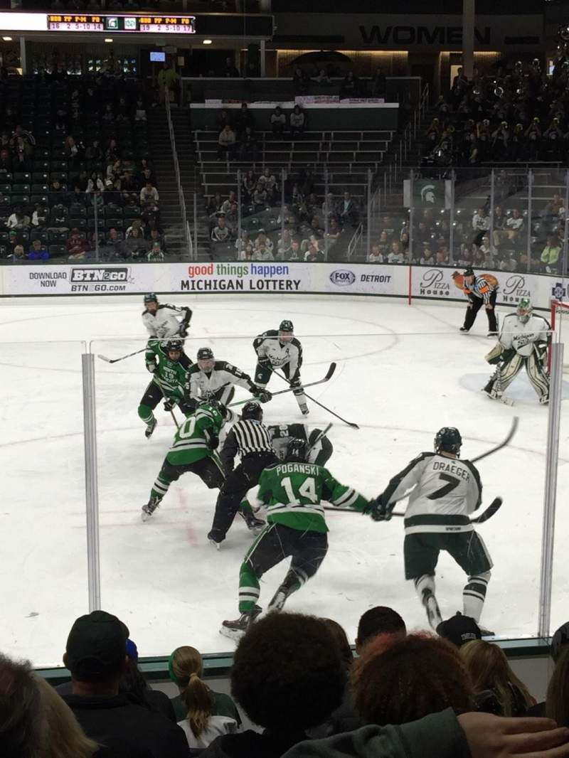 Seating view for Munn Ice Arena Section G Row 9 Seat 4