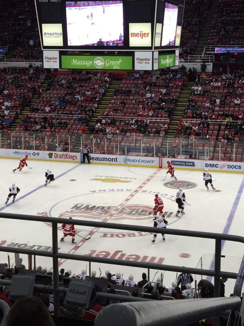 Seating view for Joe Louis Arena Section 220 Row 5 Seat 12
