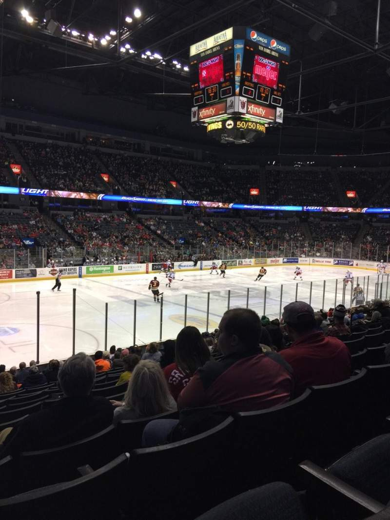 Seating view for Van Andel Arena Section 110 Row R Seat 15