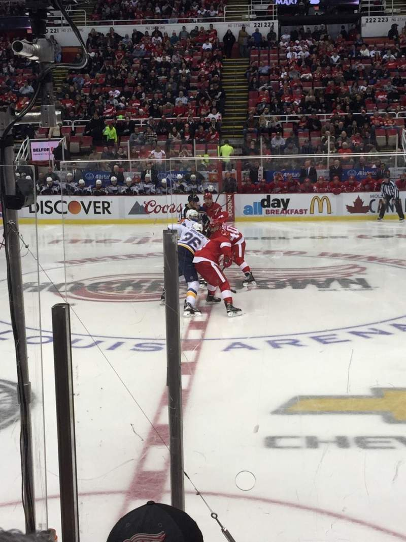 Seating view for Joe Louis Arena Section 107 Row 5 Seat 15