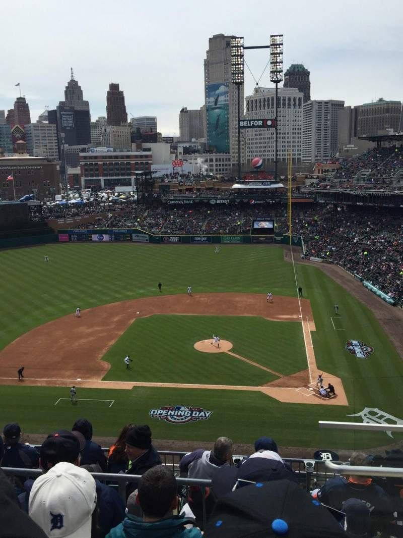 Seating view for Comerica Park Section 332 Row 4 Seat 5
