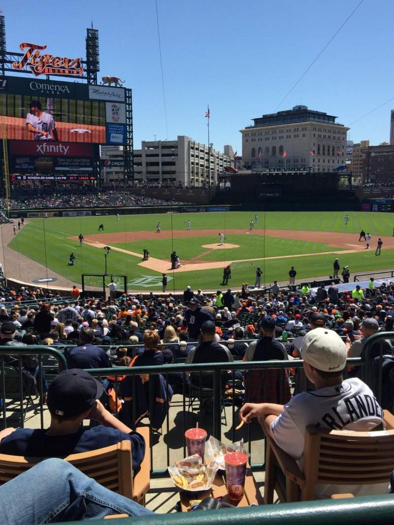 Seating view for Comerica Park Section 126A Row C Seat 4