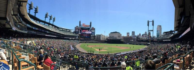 Seating view for Comerica Park Section 126A Row C Seat 3