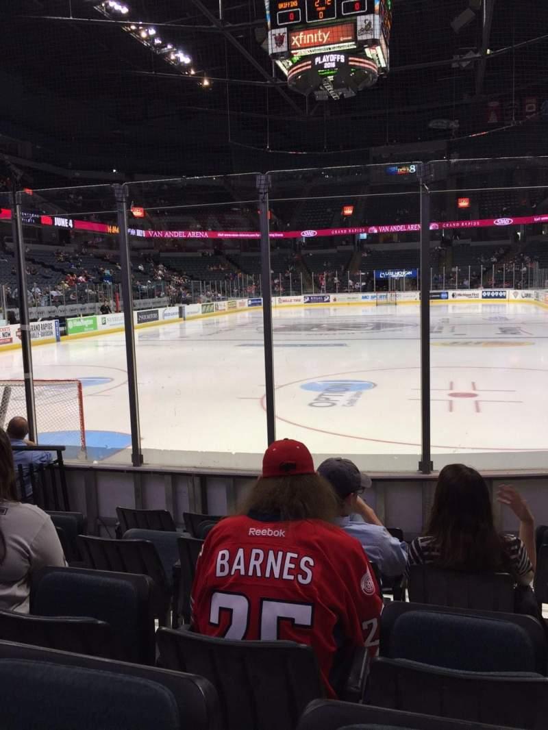 Van Andel Arena, section: 114, row: E, seat: 6