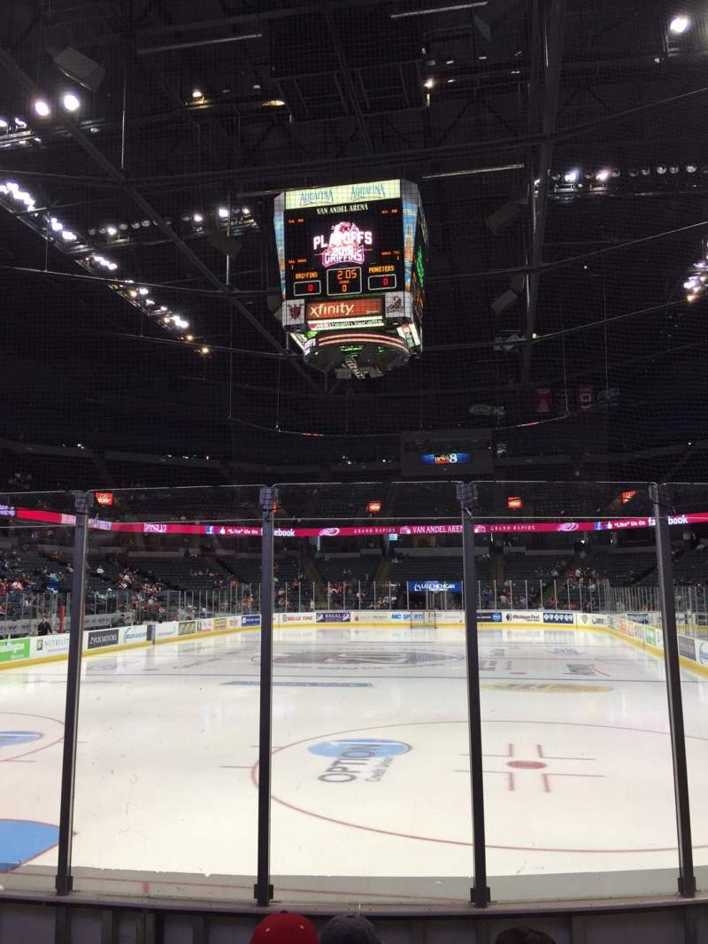 Seating view for Van Andel Arena Section 114 Row E Seat 6