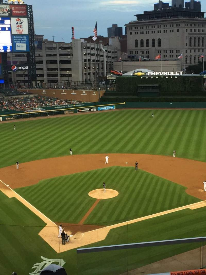 Seating view for Comerica Park Section 326 Row 4 Seat 5