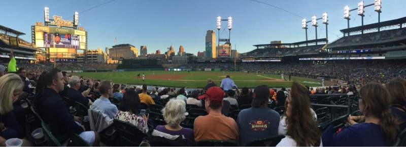 Seating view for Comerica Park Section 133 Row 18 Seat 6