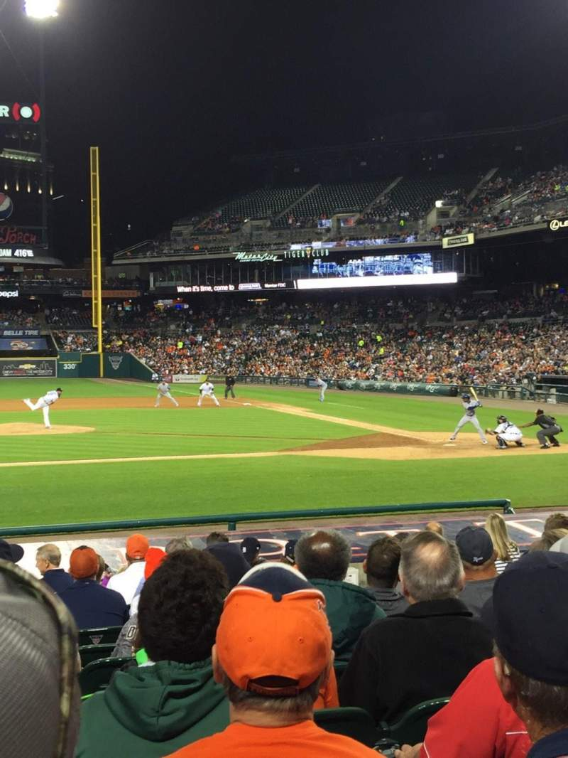 Seating view for Comerica Park Section 133 Row 18 Seat 5