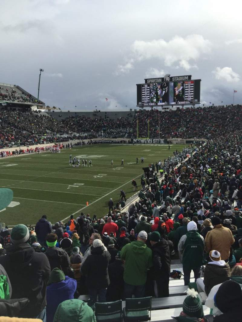 Seating view for Spartan Stadium Section 28 Row 34 Seat 54