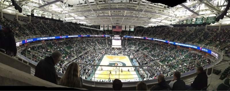 Seating view for Breslin Center Section 218 Row 4 Seat 6