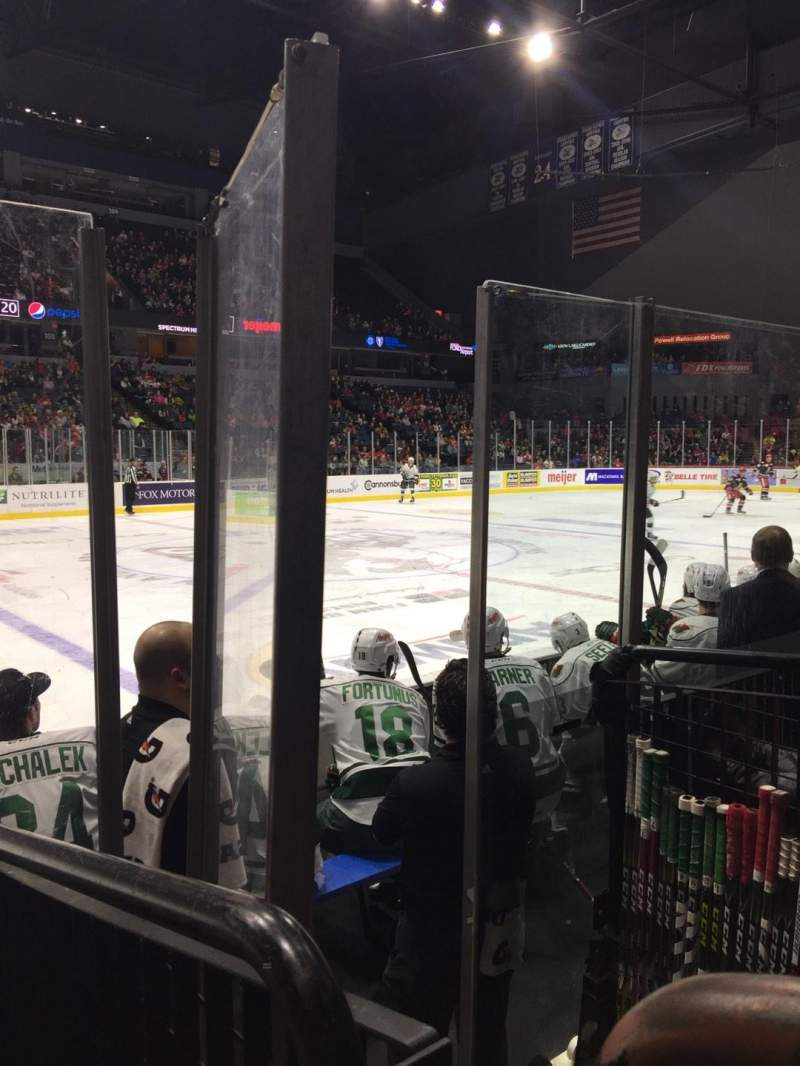 Seating view for Van Andel Arena Section 123 Row D Seat 8