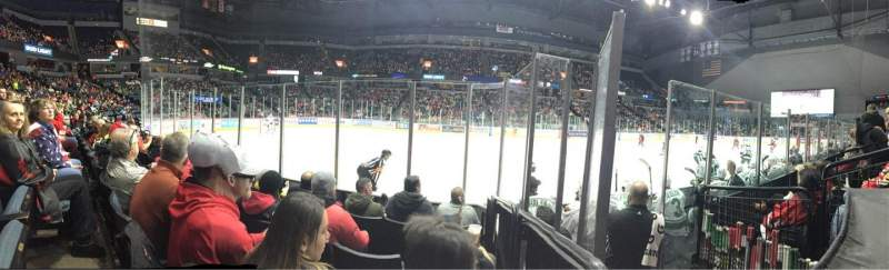 Seating view for Van Andel Arena Section 123 Row D Seat 7