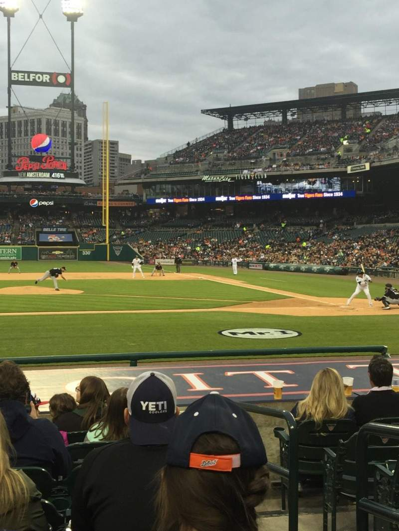 Seating view for Comerica Park Section 133 Row 14 Seat 2