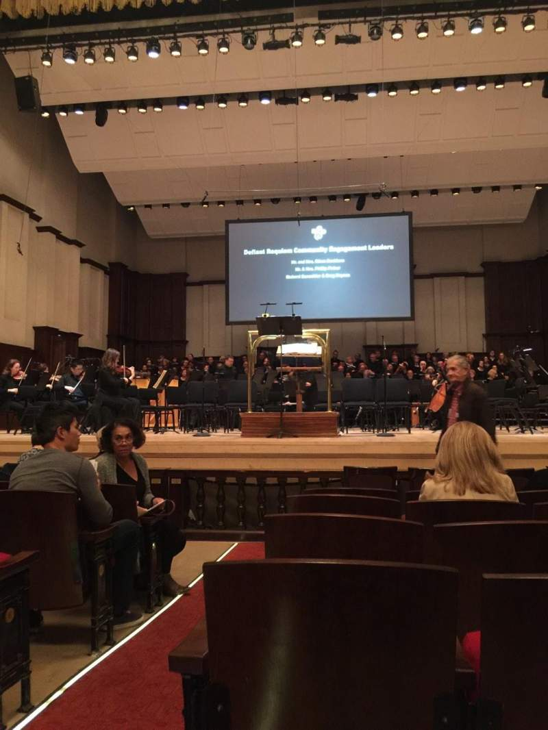 Seating view for Detroit Orchestra Hall Section MF Row H Seat 1