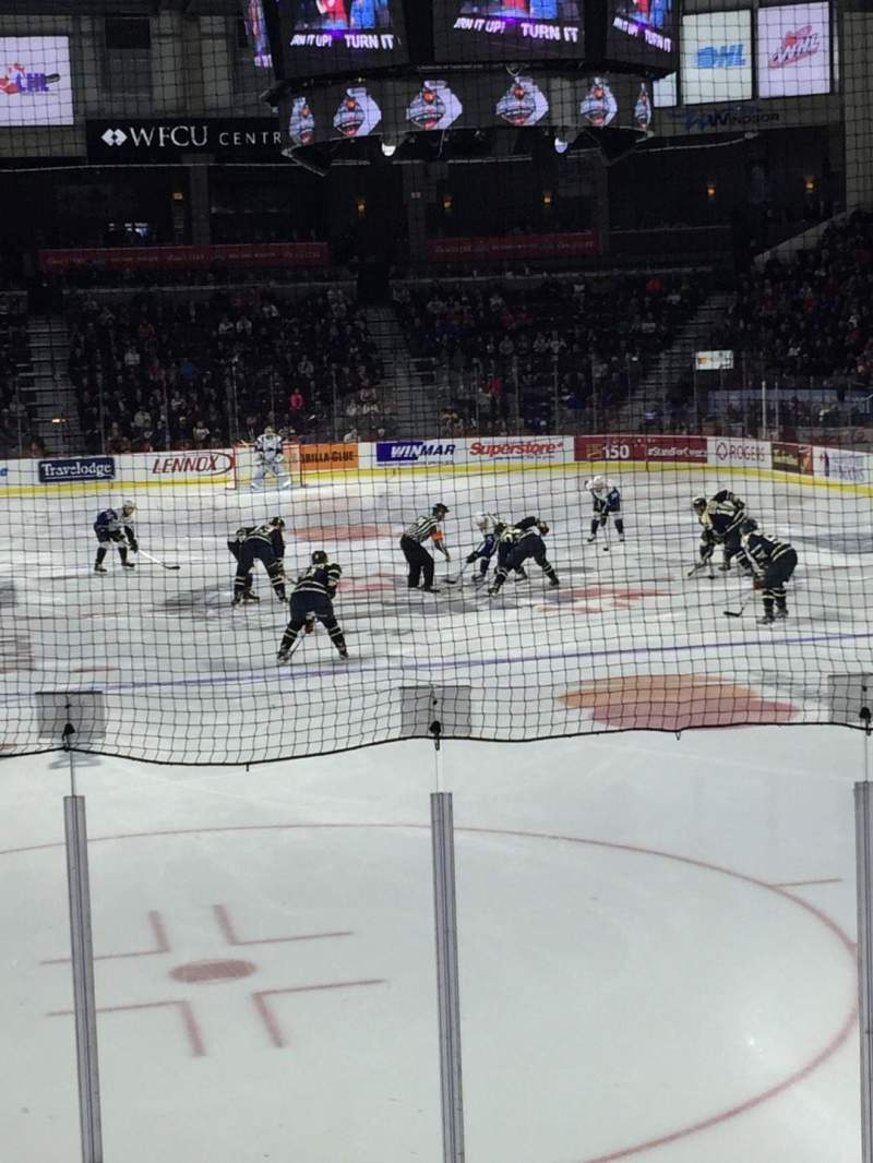 Seating view for WFCU Centre Section 110 Row H Seat 5