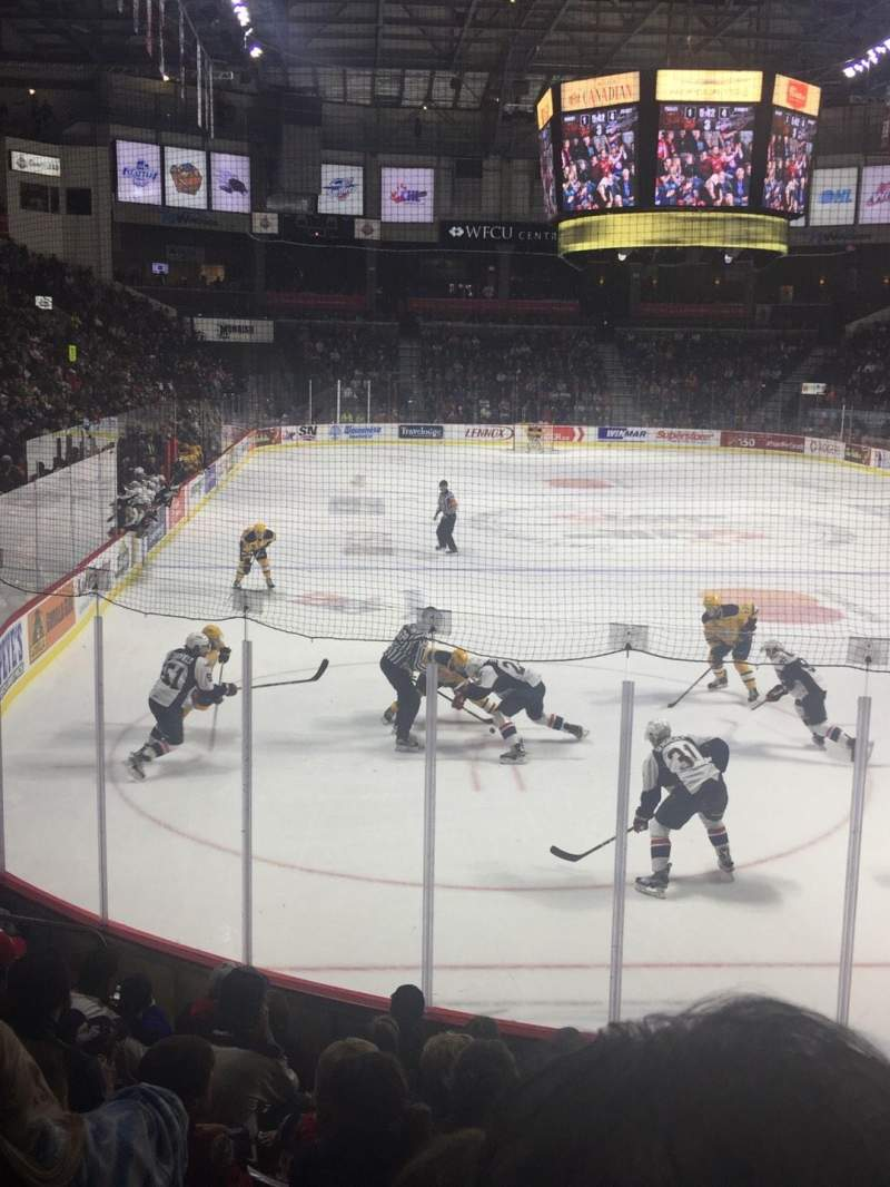 Seating view for WFCU Centre Section 110 Row I Seat 5