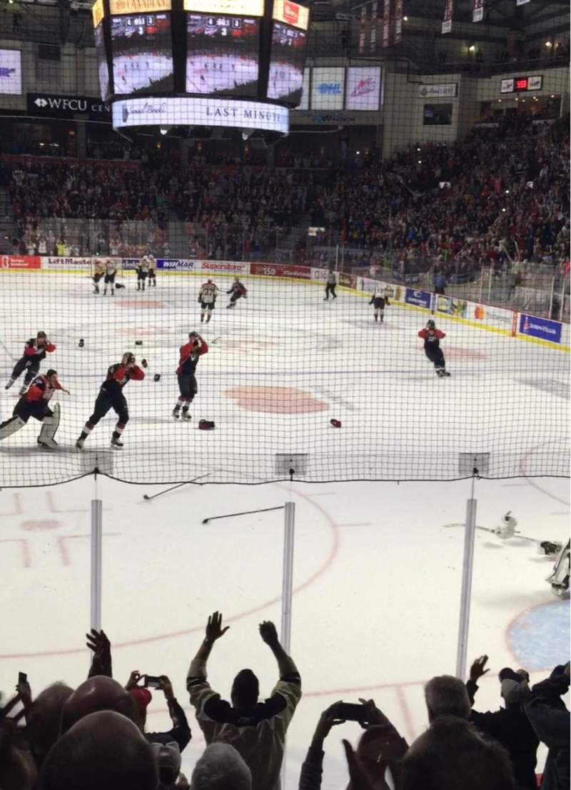 WFCU Centre, section: 110, row: H, seat: 4