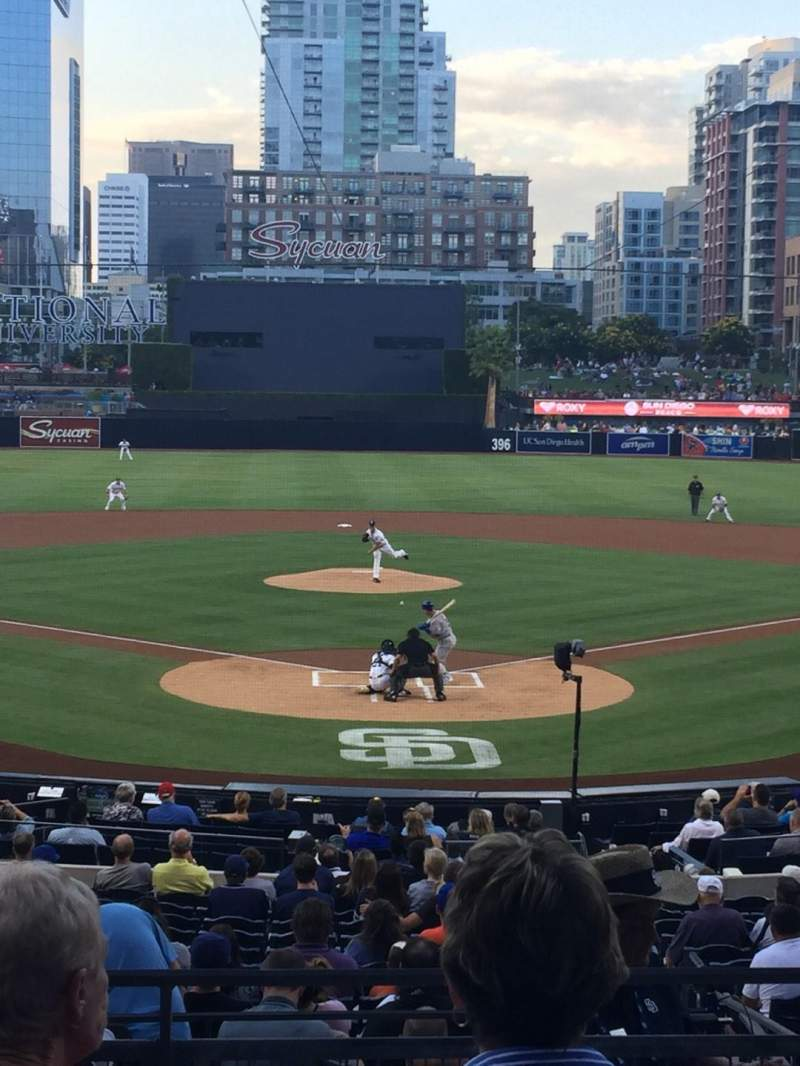 Seating view for PETCO Park Section F Row 4 Seat 3