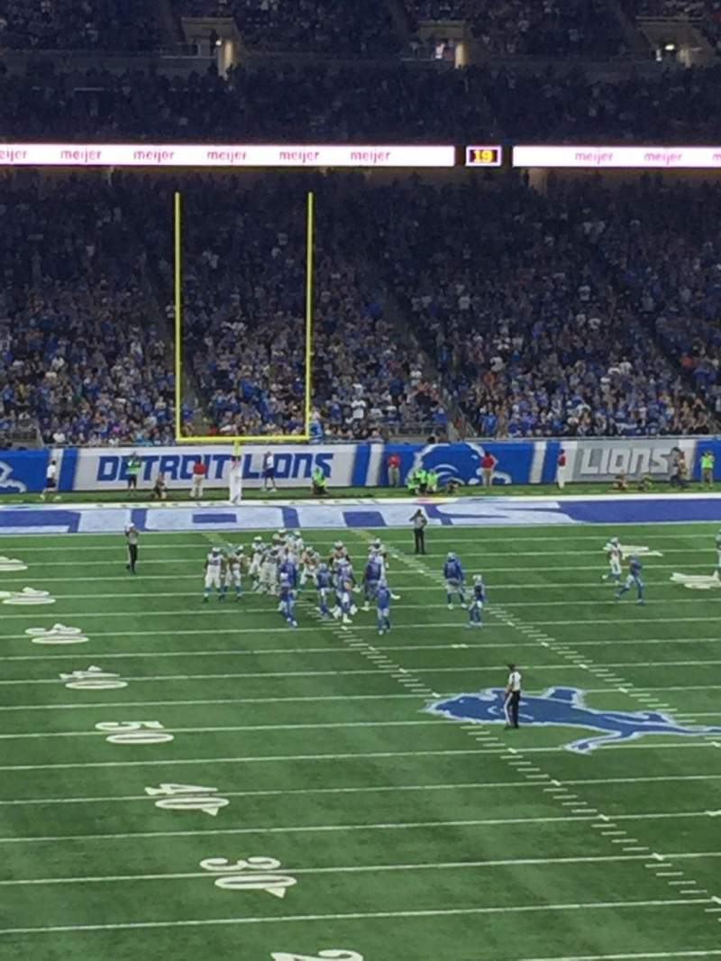 Seating view for Ford Field Section 241 Row 4 Seat 18