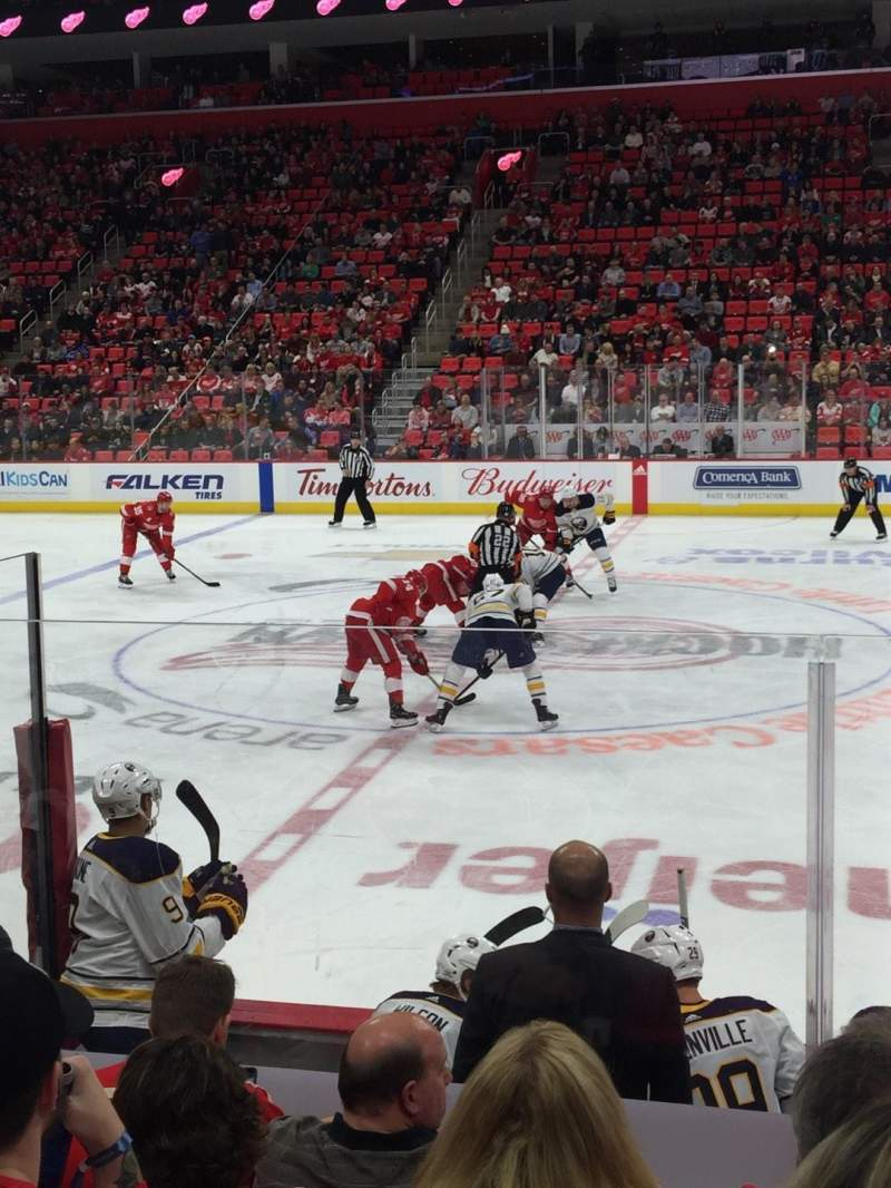 Little Caesars Arena, section: 122, row: 7, seat: 1