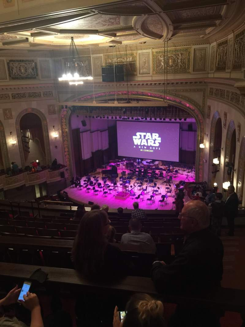 Seating view for Orchestra Hall Section MidBalc Row K Seat 43