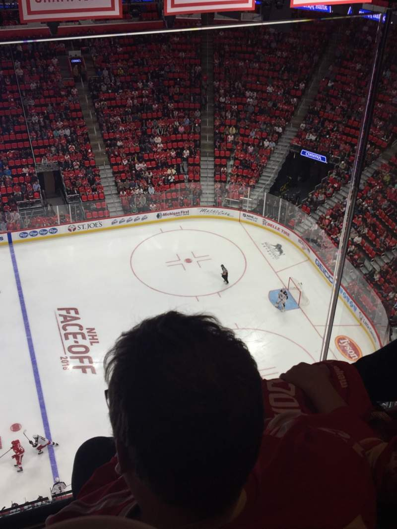 Seating view for Little Caesars Arena Section G26 Row 2 Seat 7