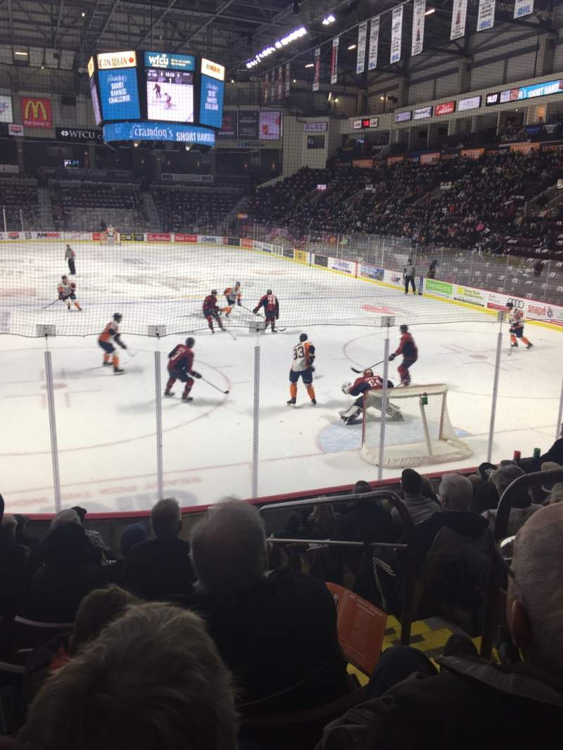 Seating view for WFCU Centre Section 110 Row I Seat 2