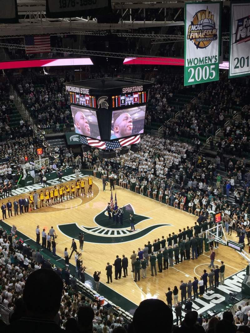 Seating view for Breslin Center Section 205 Row 14 Seat 108