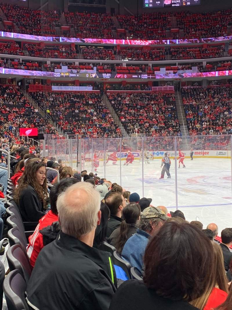 Seating view for Little Caesars Arena Section 106 Row 5 Seat 1