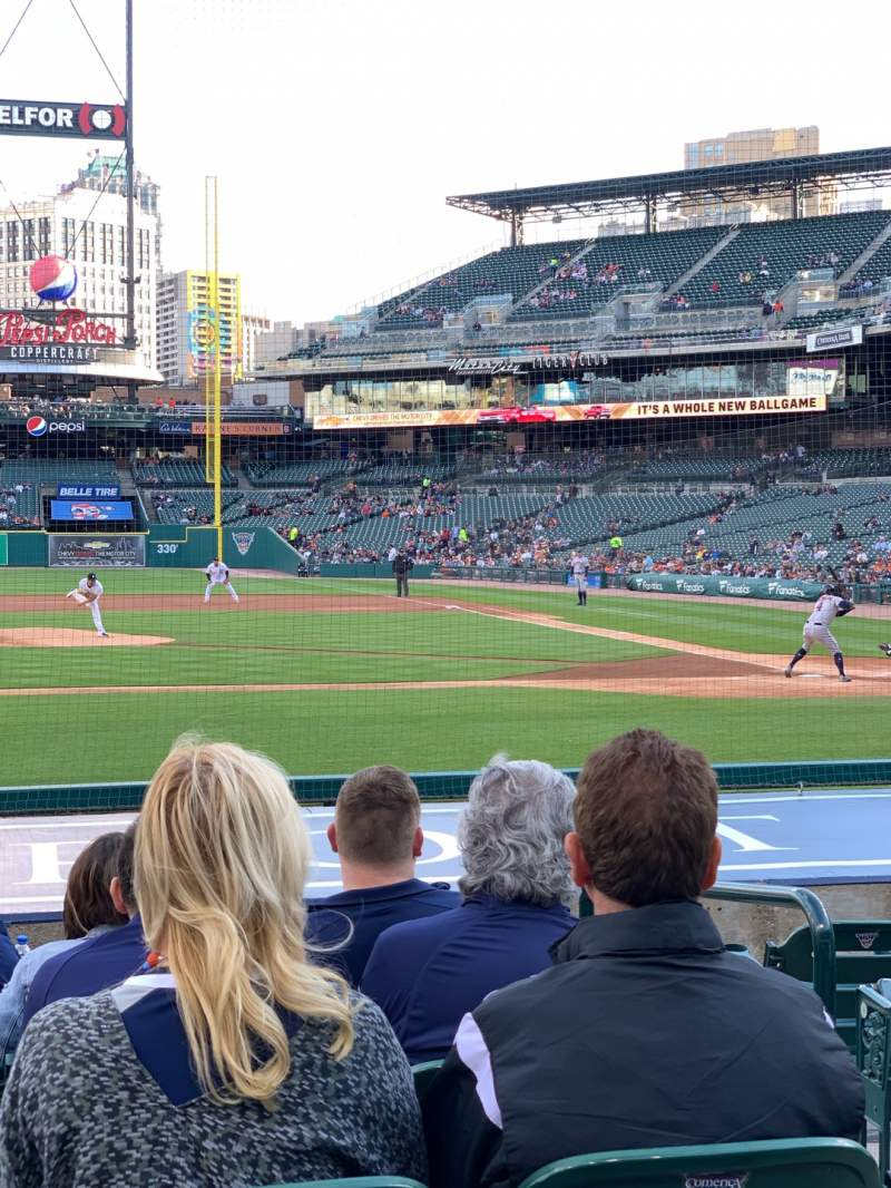 Seating view for Comerica Park Section 133 Row 14 Seat 3