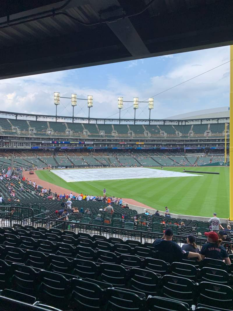 Comerica Park, section 112, home of Detroit Tigers