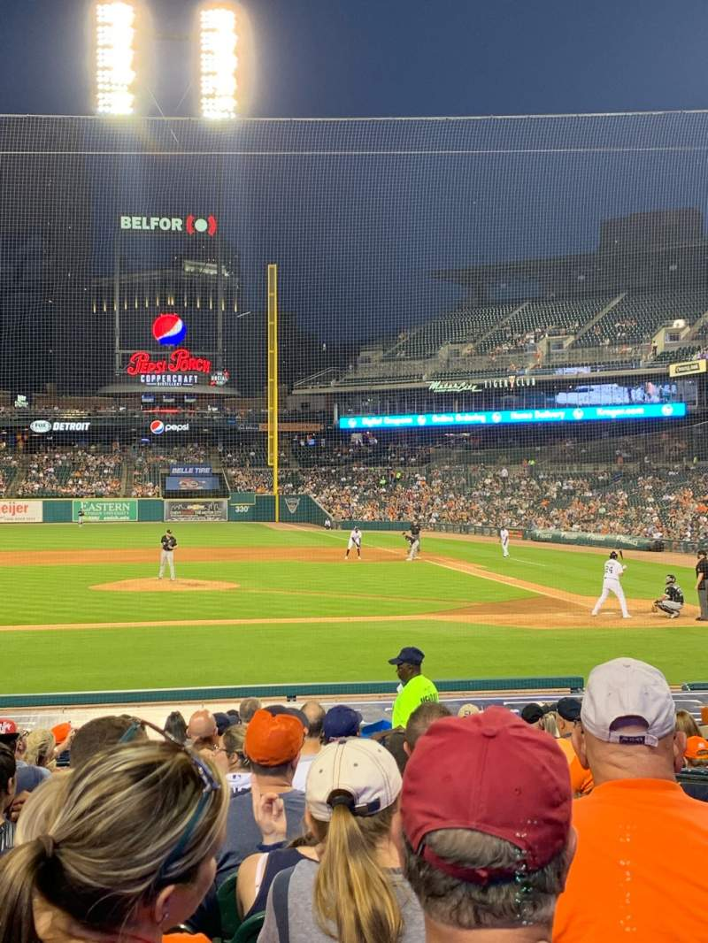 Comerica Park Section 133 Row 22 Seat 3 Detroit Tigers Vs