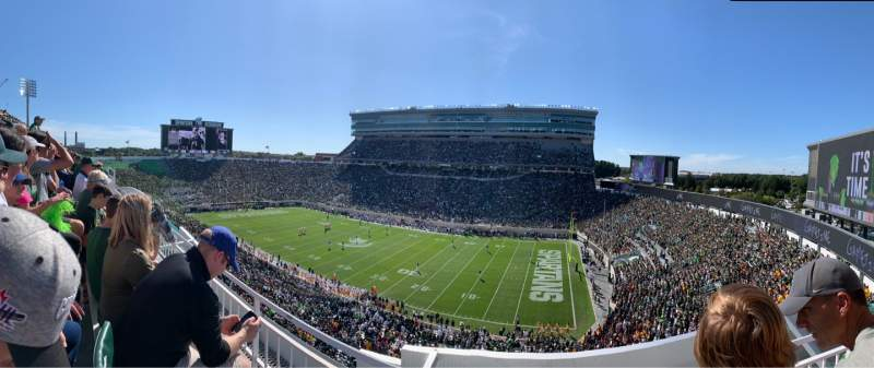 Seating view for Spartan Stadium Section 106 Row 2 Seat 1