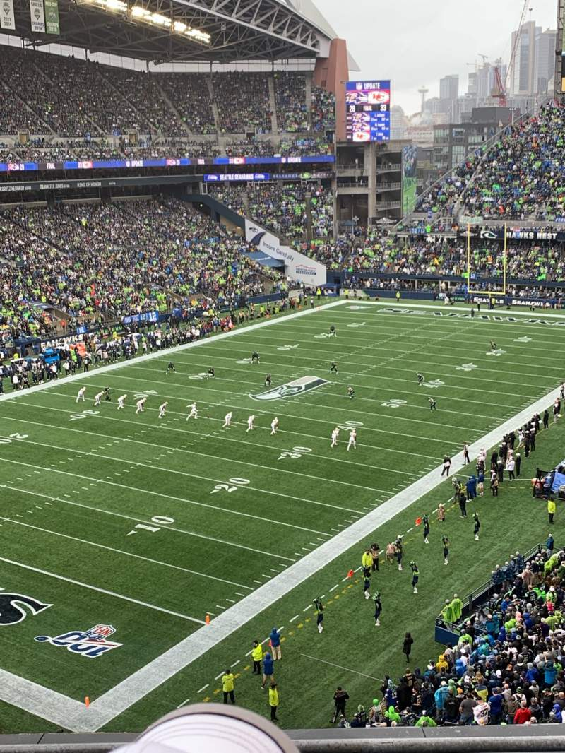 Seating view for CenturyLink Field Section 317 Row C Seat 3
