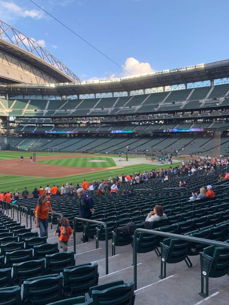 Seating view for T-Mobile Park Section 143 Row 29 Seat 4
