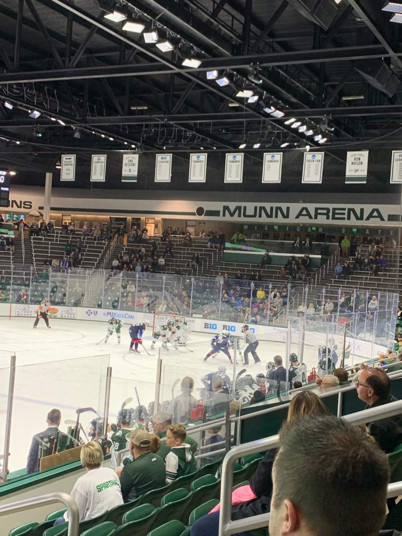 Seating view for Munn Ice Arena Section V Row 9 Seat 5