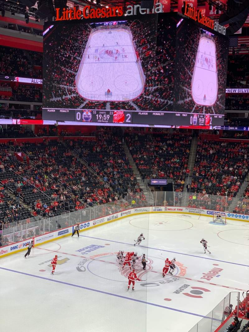 Seating view for Little Caesars Arena Section M34 Row B Seat 11