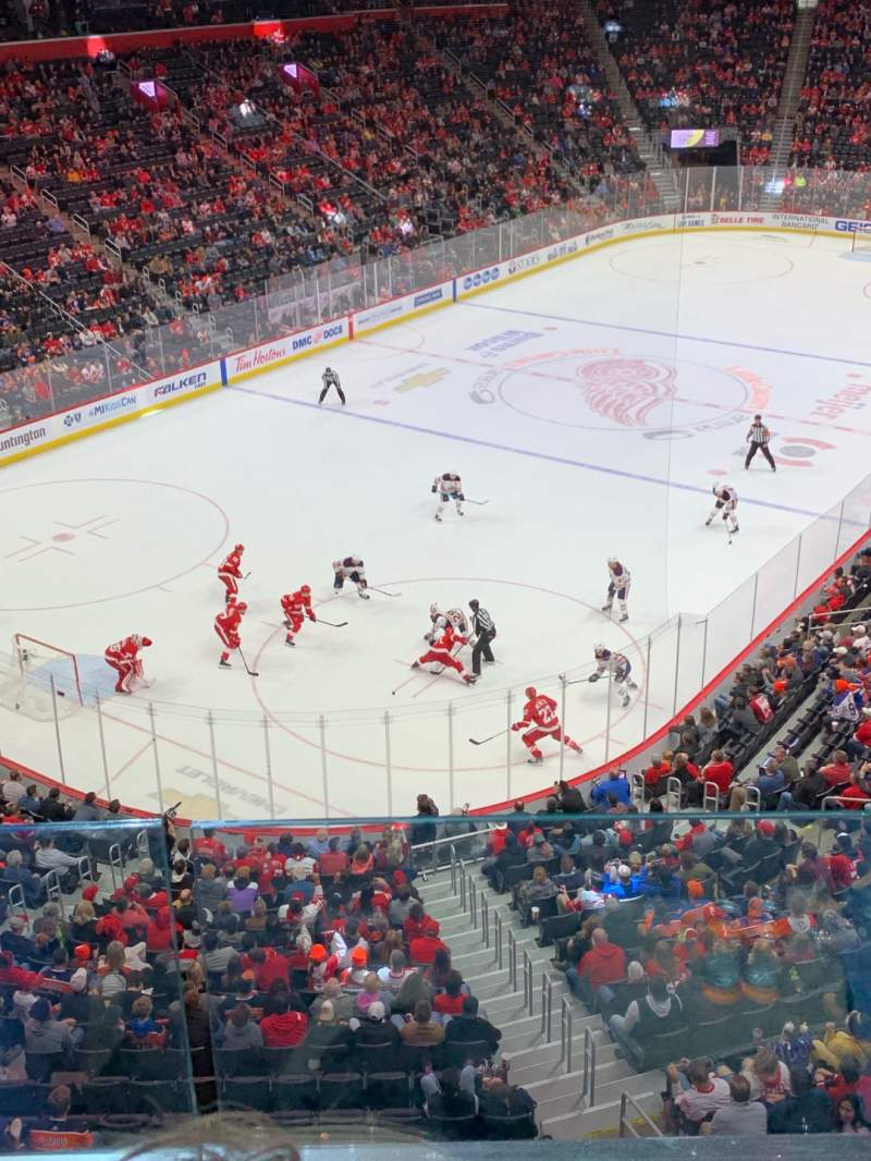 Seating view for Little Caesars Arena Section M34 Row B Seat 12