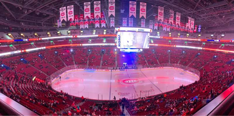 Seating view for Centre Bell Section 214 Row A Seat 4
