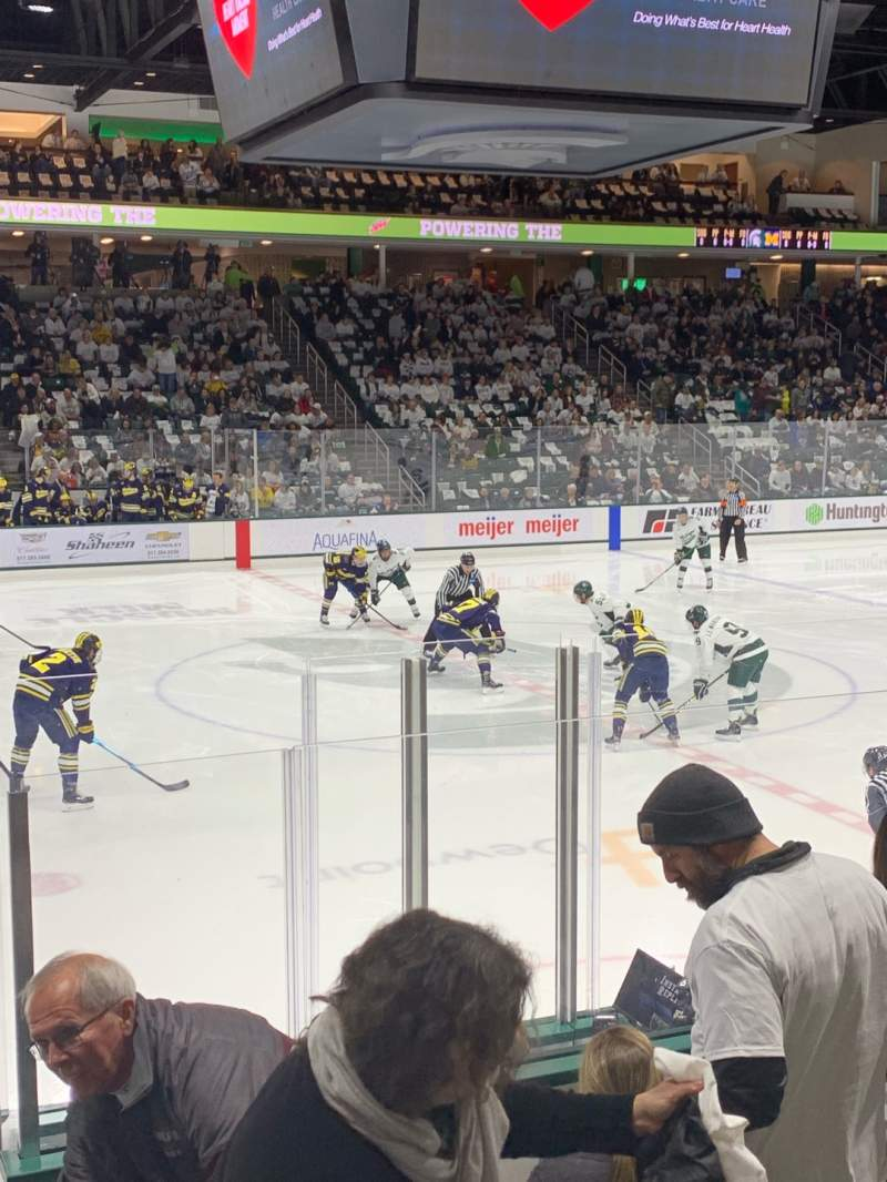 Seating view for Munn Ice Arena Section V Row 9 Seat 8