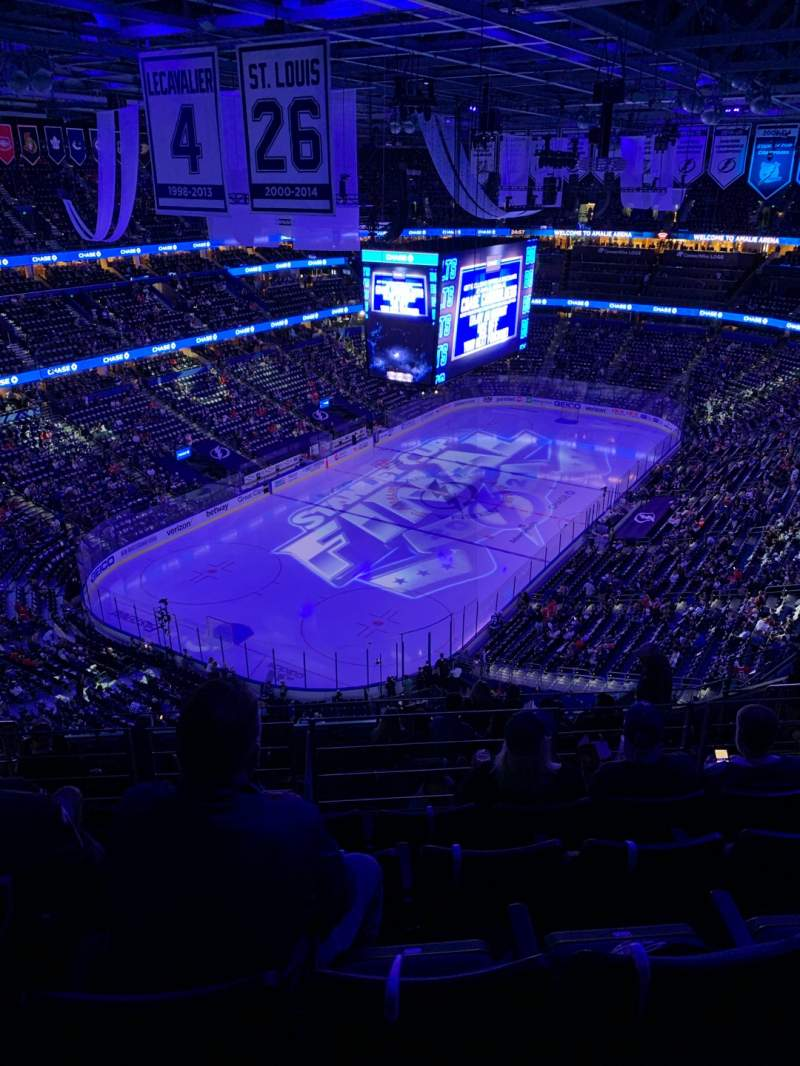 Seating view for Amalie Arena Section 321 Row L Seat 14