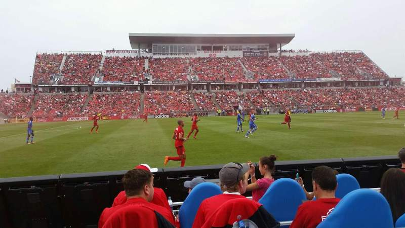 Seating view for BMO Field Section 109 Row 1 Seat 103