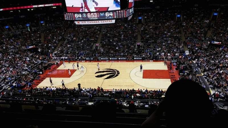 Seating view for Air Canada Centre Section 308 Row 6 Seat 19